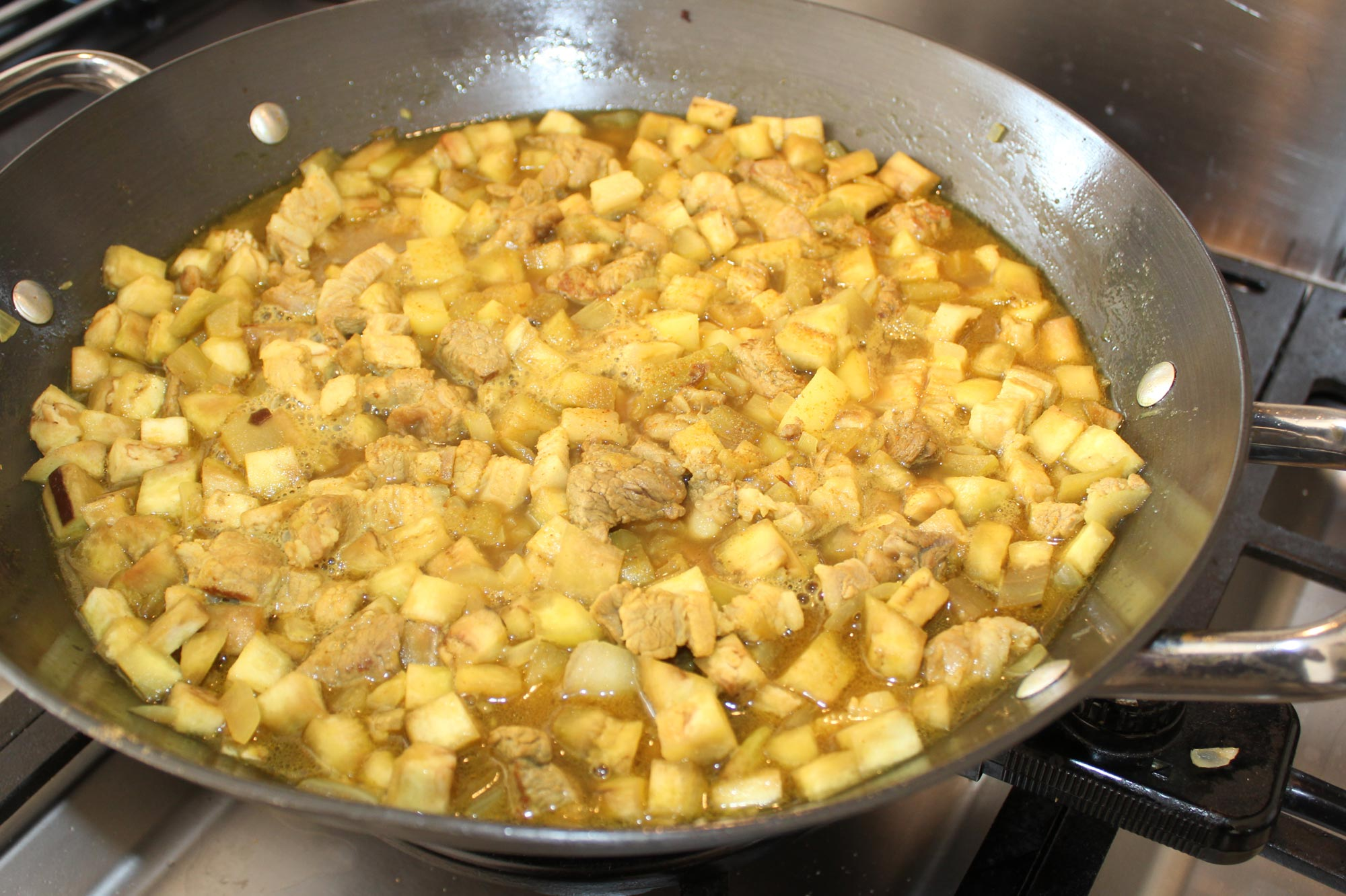 Boulansjé gebakken in een pan