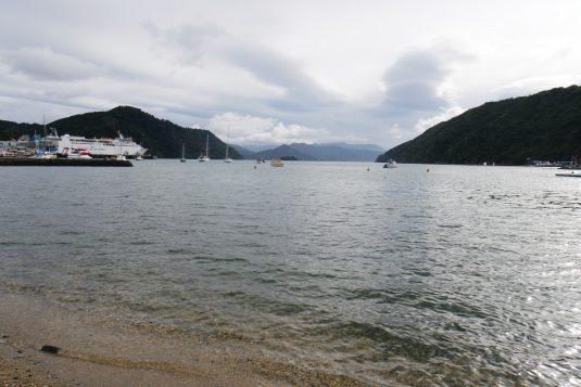 Het strand van Picton