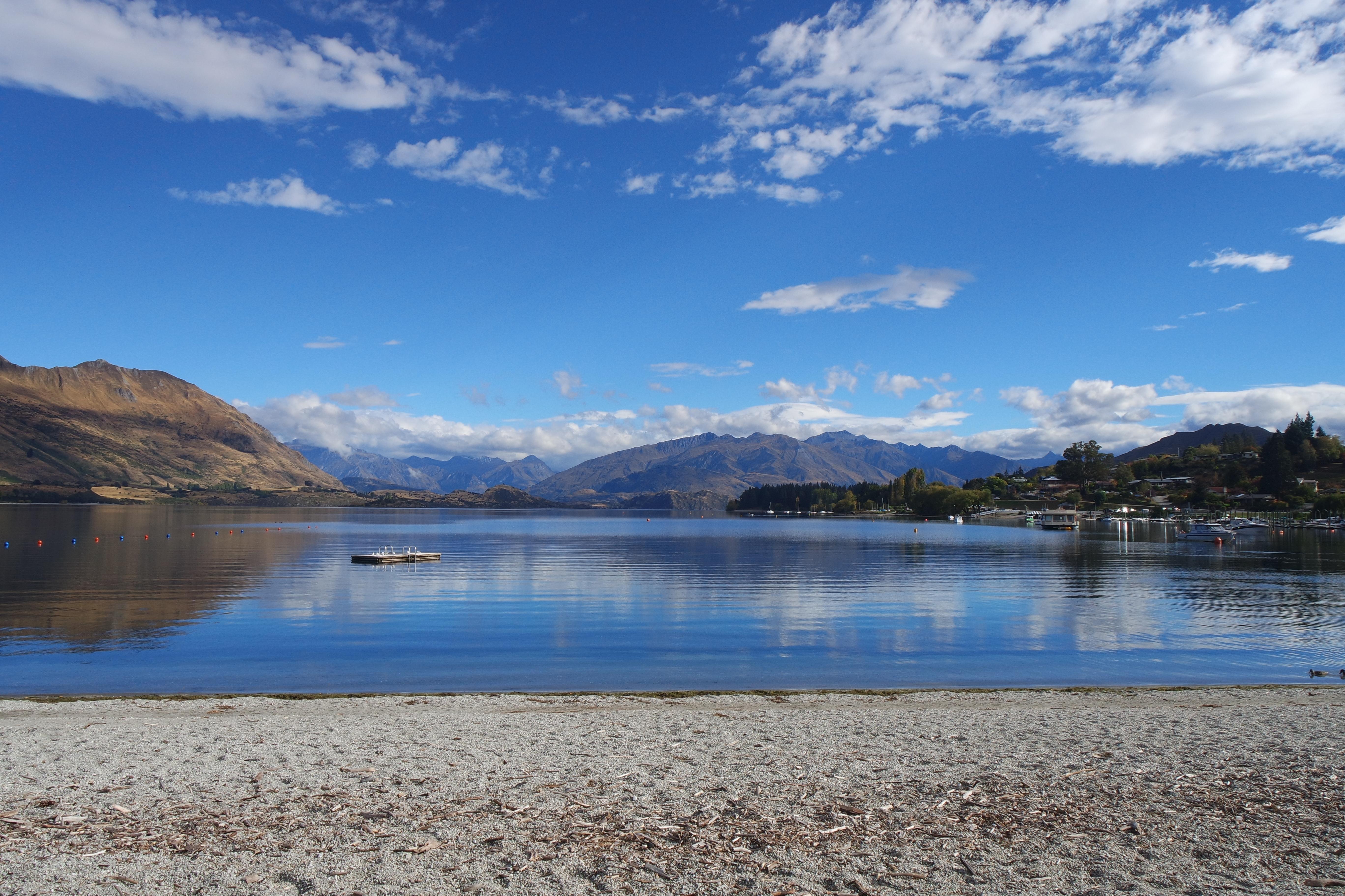 Uitzicht van Lake Wanaka