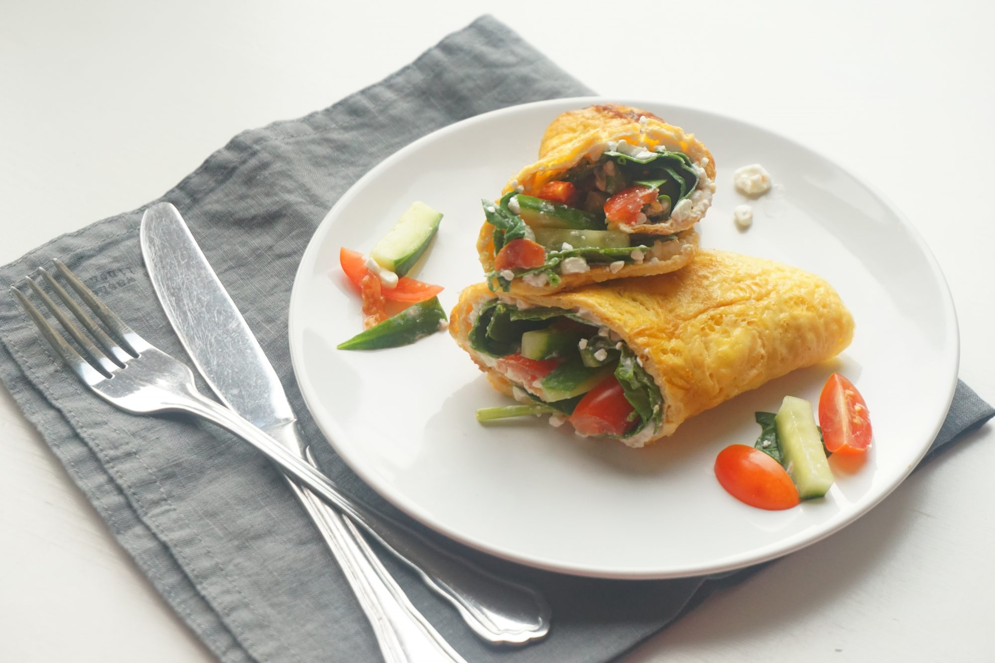 Omeletwrap met Hüttenkäse