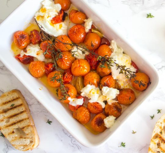 Caprese met geroosterde tomaten