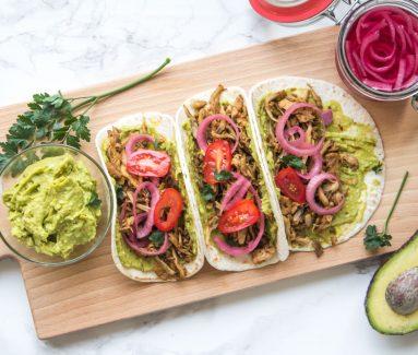 Paddenstoelen Taco's met Guacemole