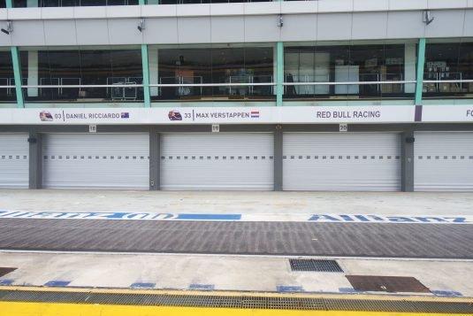 Formule 1 pitbox