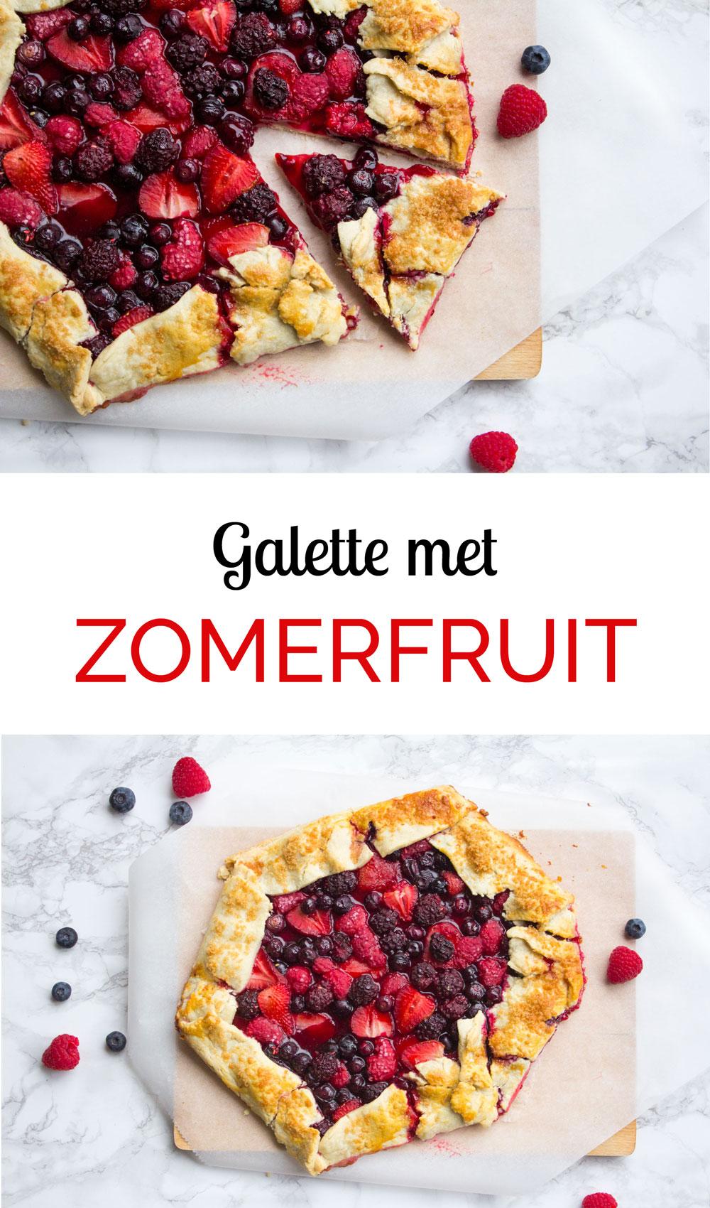 zomerfruit galette