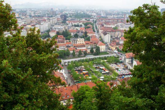 Uitzicht bij Ljubljana Castle