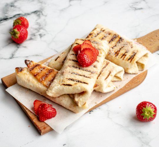 Aardbeien Cheesecake Chimichanga's