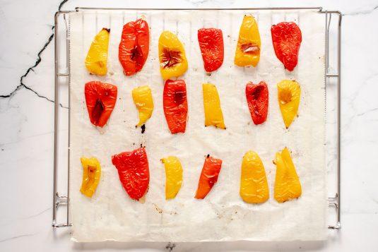 Gegrilde Paprika's in Olijfolie