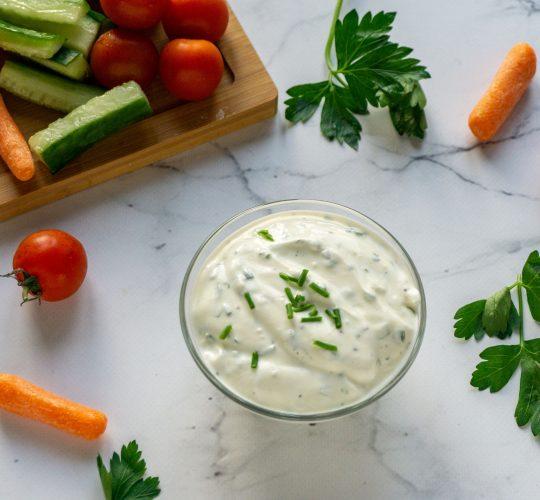 Groente met Yoghurtdip