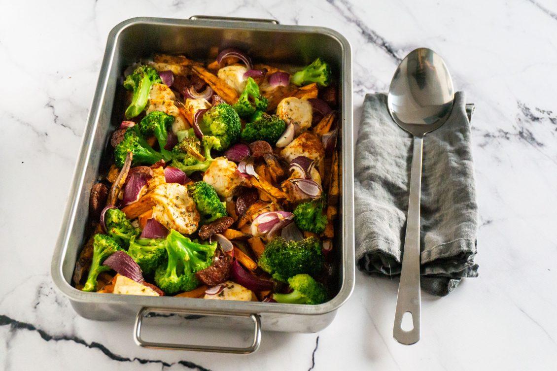 Spaanse Ovenschotel met Kip en Chorizo