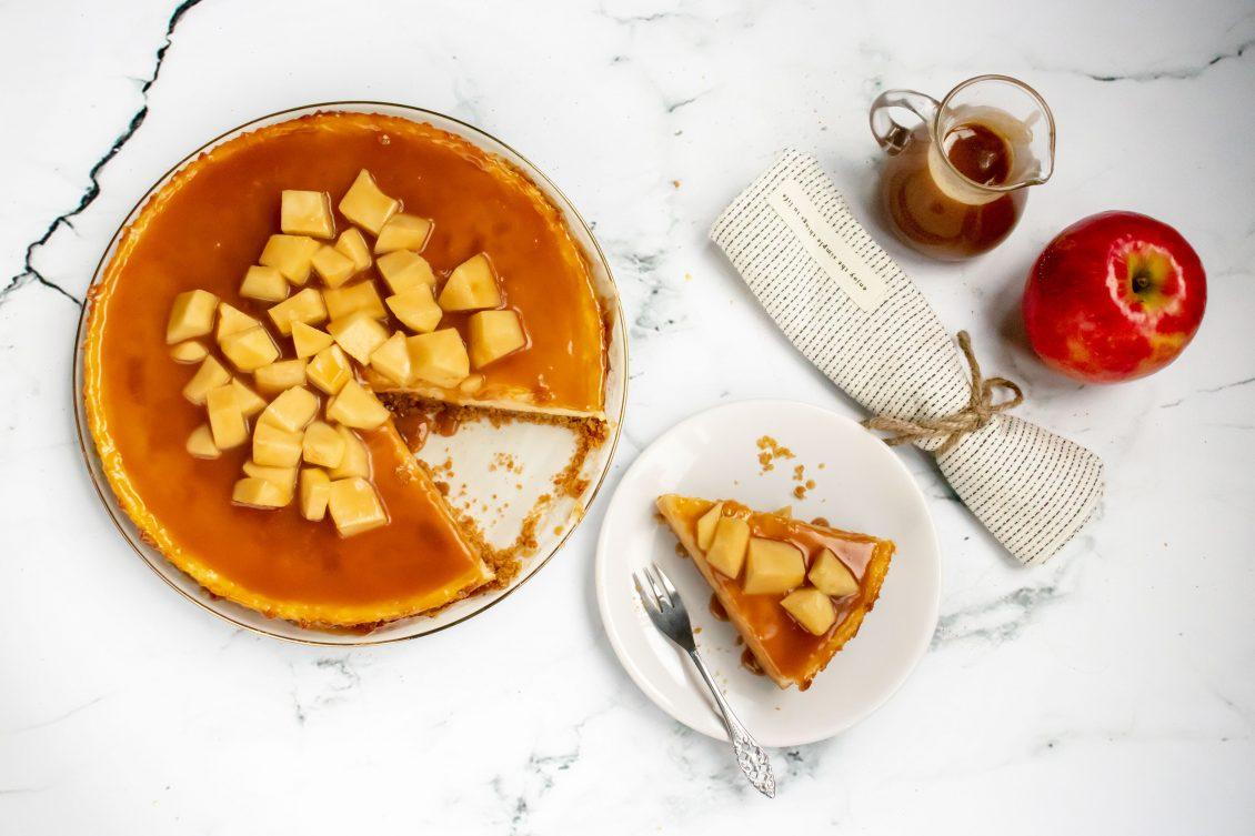Appel Karamel Cheesecake
