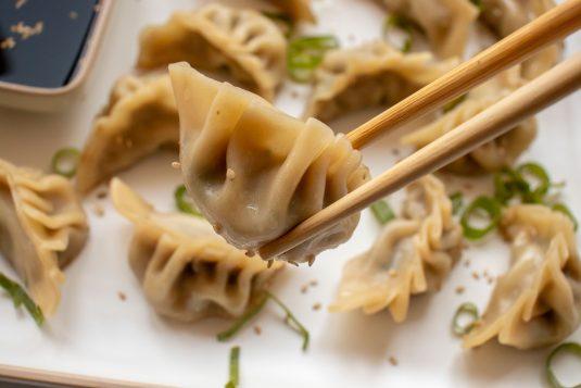 Kip Dumplings met gember