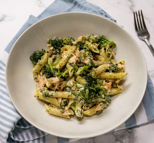 pasta met zalm en roomkaas