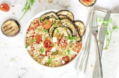 Couscous Salade met Gegrilde Aubergine