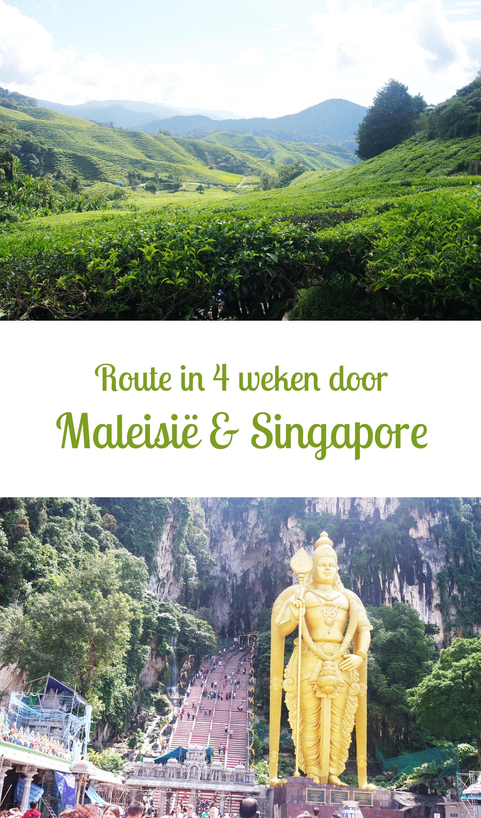 Route in 4 weken door Maleisië & Singapore