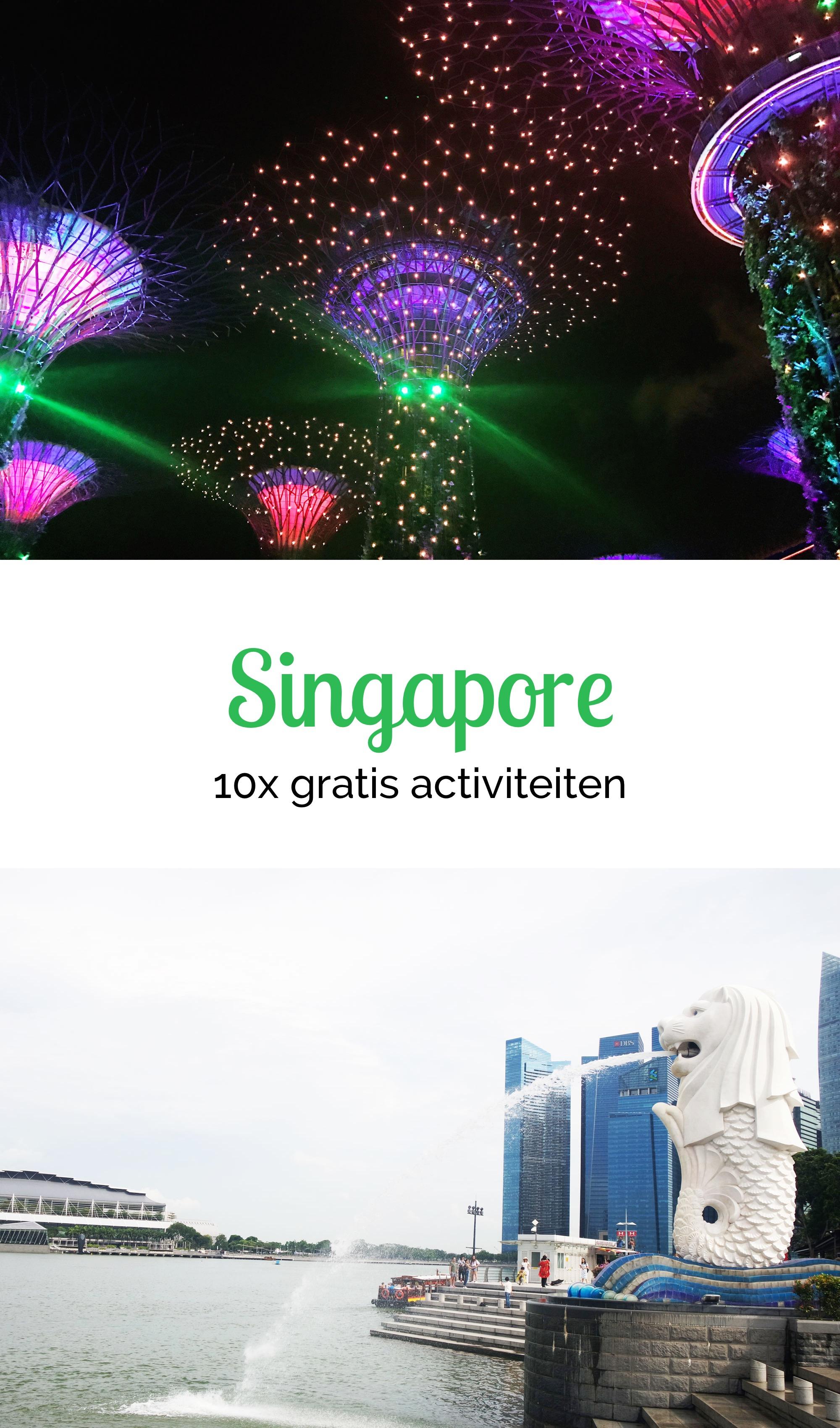 Singapore: 10x gratis activiteiten