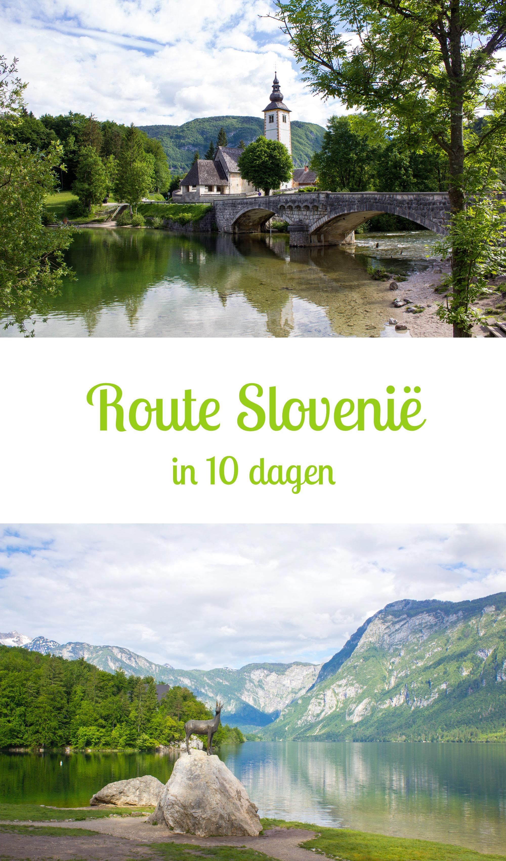 Slovenië: Reisroute in 10 dagen