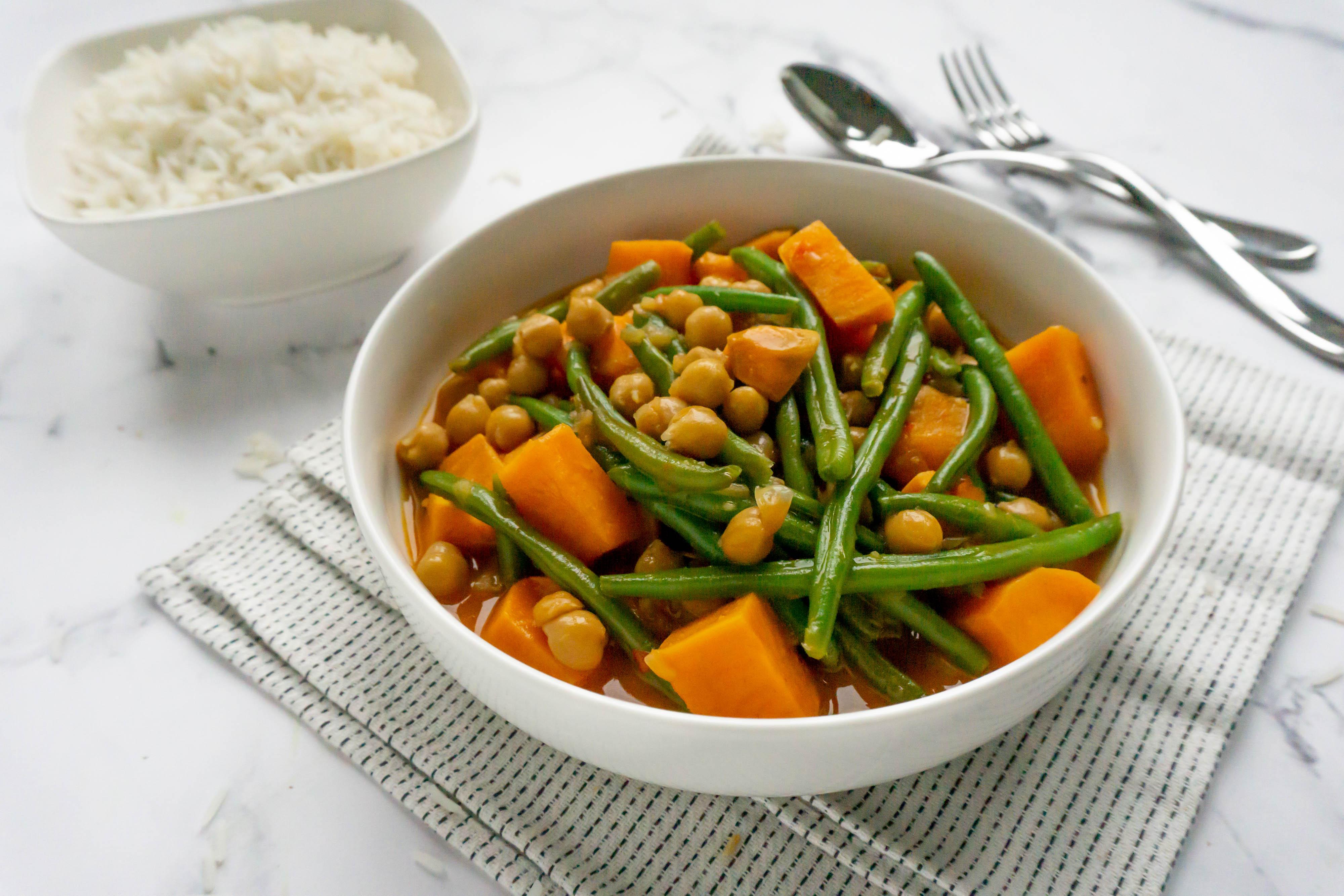 Rode Curry met Zoete Aardappel