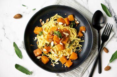 Spaghetti met pompoen
