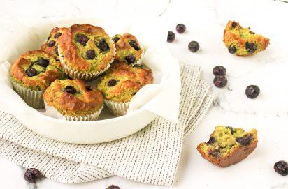 Avocado Muffins met Blauwe Bessen