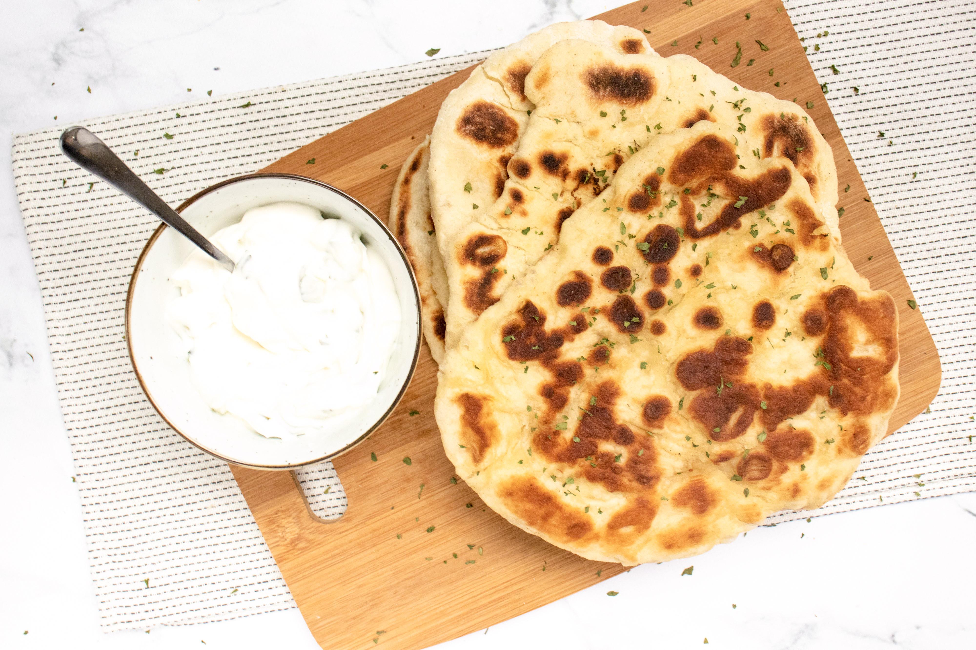Zelfgemaakte Naanbrood