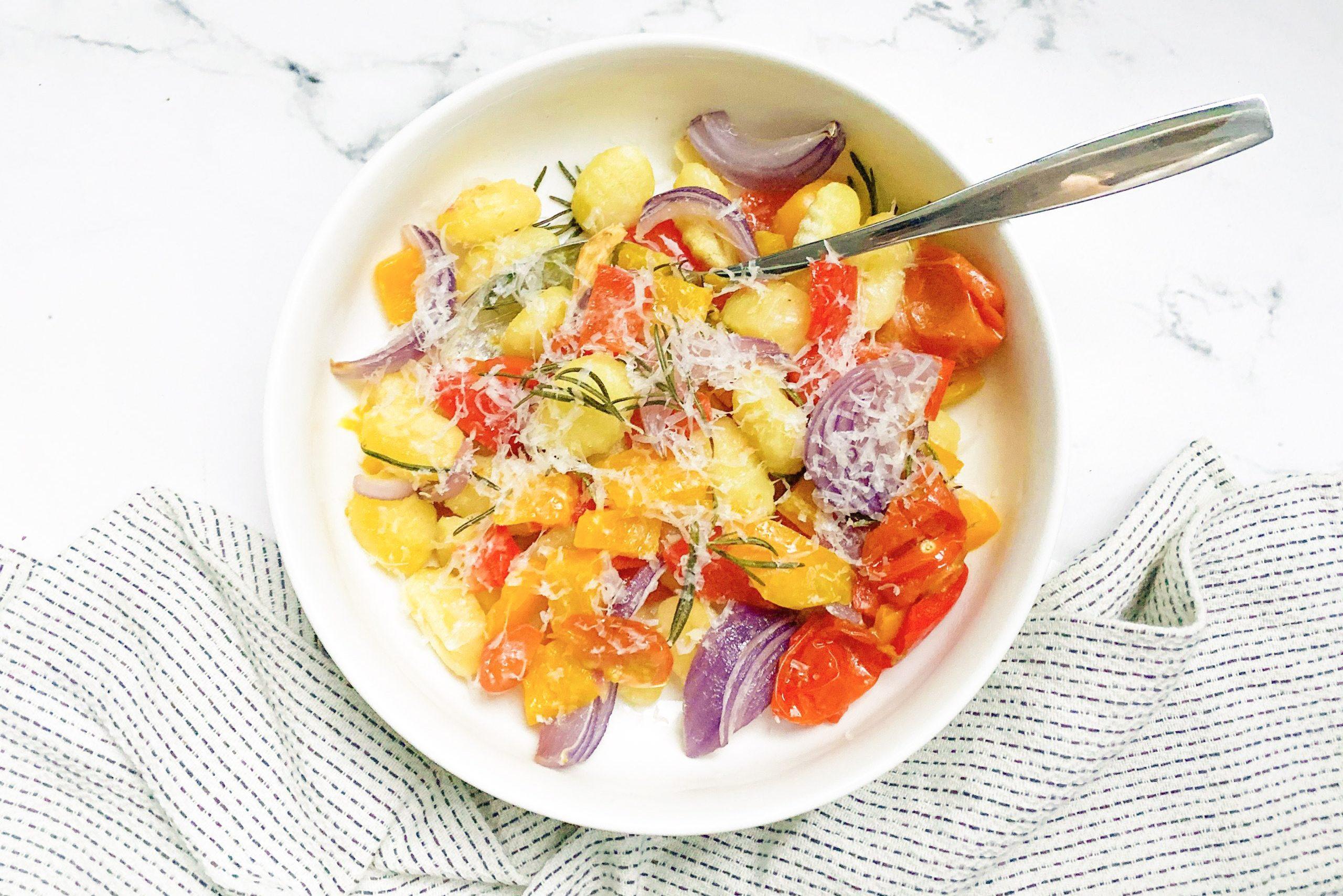 gnocchi met gegrilde groenten