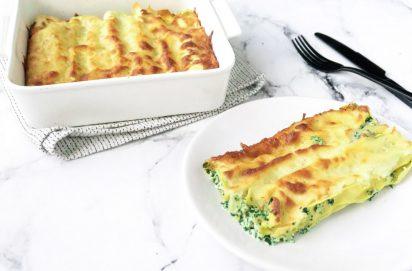 Cannelloni met Kip, Ricotta en Spinazie