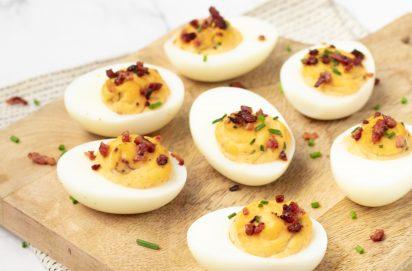 Gevulde eieren met bacon