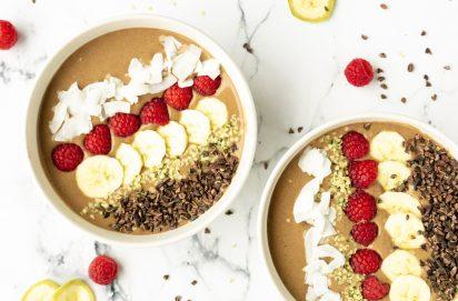 Chocolade Proteine Smoothiebowl