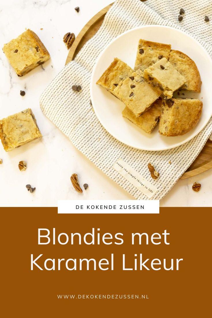 Blondies met Karamel likeur