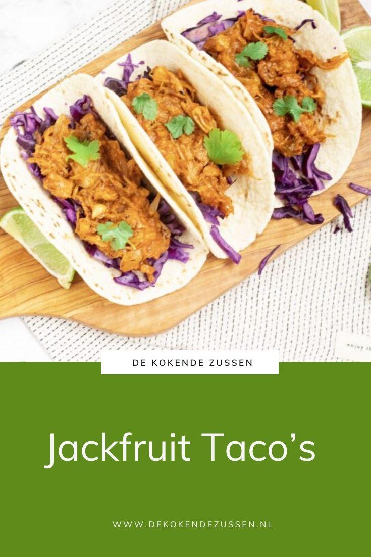 Taco's met BBQ Jackfruit
