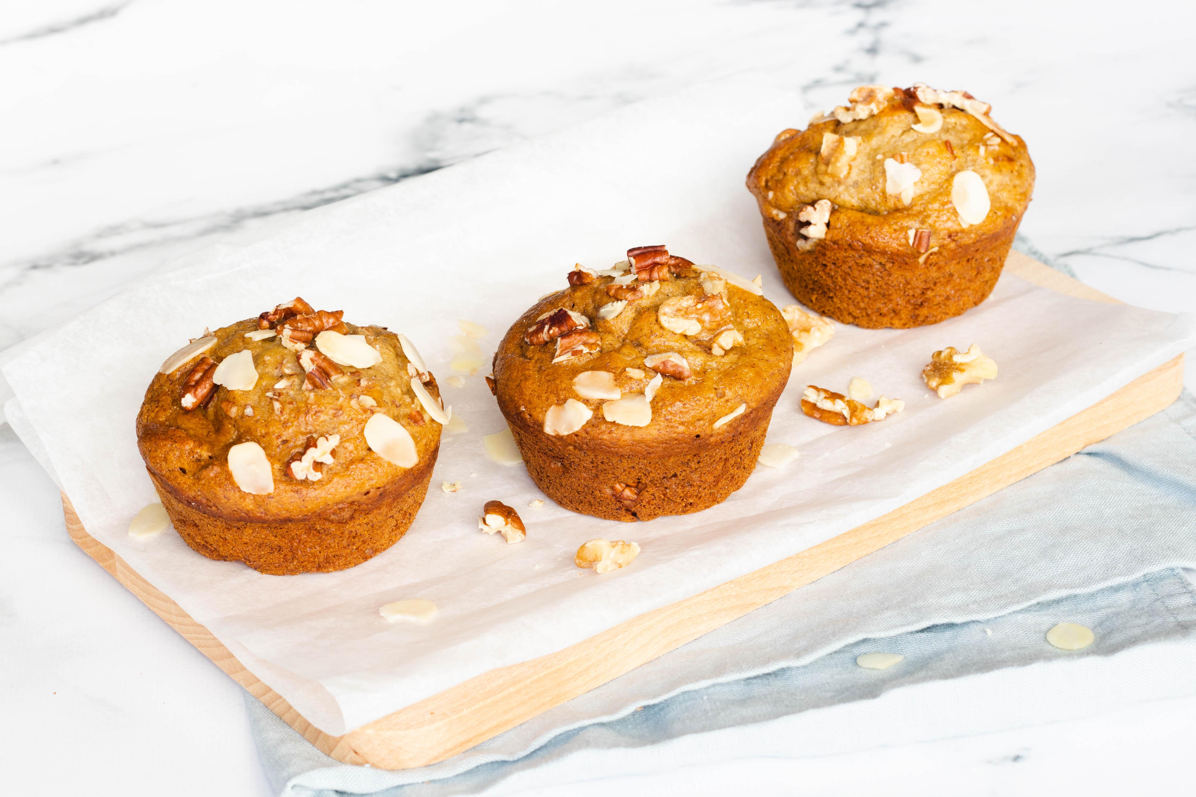 Bananen Muffins met Noten