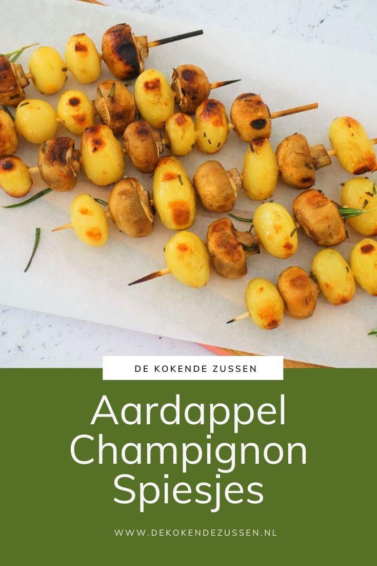 Aardappel Champignon Spiesjes