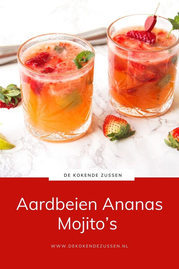 Ananas Aardbeien Mojito