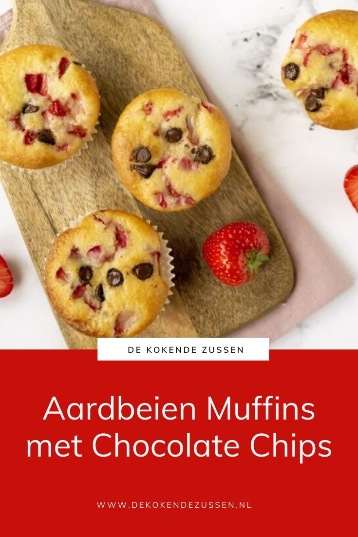 Aardbeien Chocolate Chip Muffins