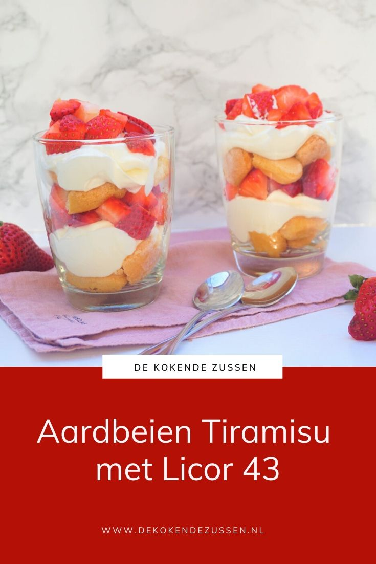 Aardbeien Tiramisu met Licor 43