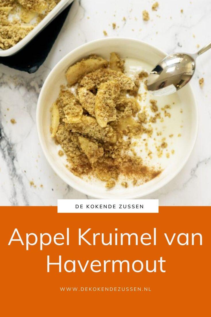 Appelkruimel van Havermout