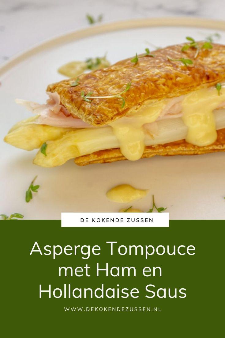 Asperge Tompouce met Ham