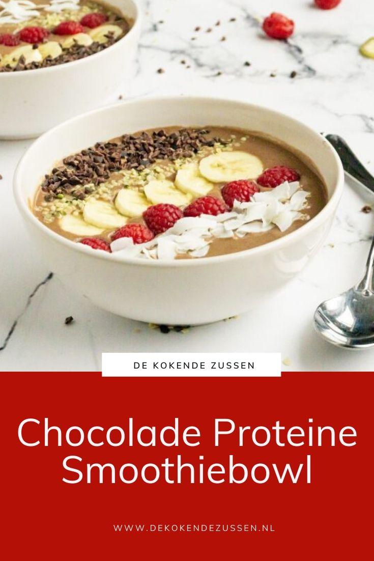 Chocolade Proteïne Smoothiebowl