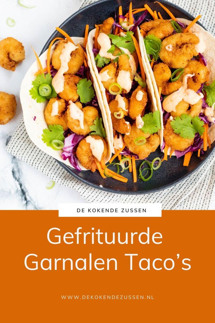 Taco's met Gefrituurde Garnalen