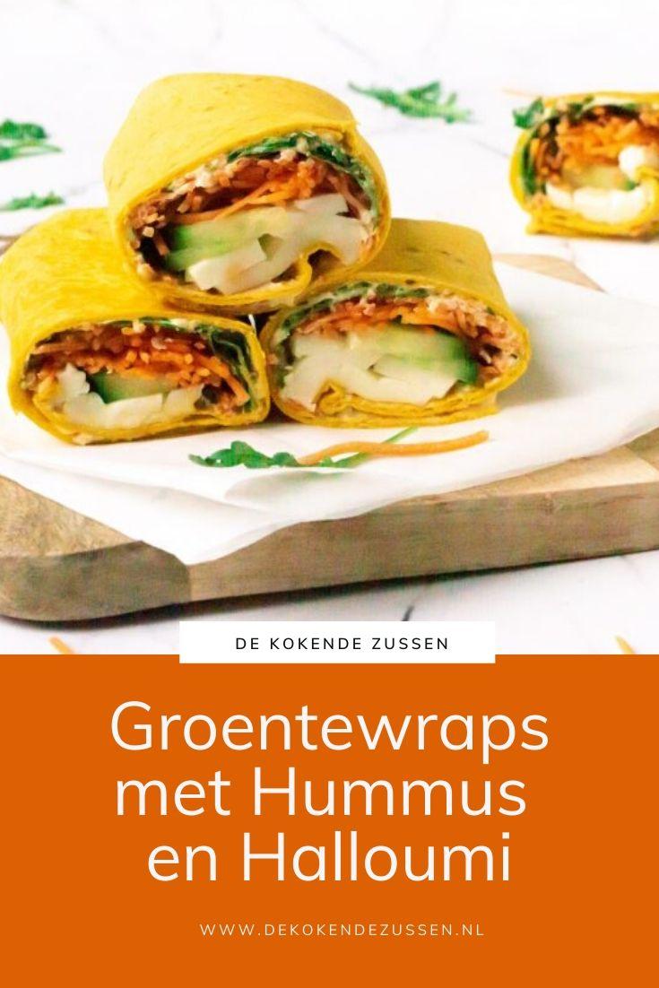 Wraps met Halloumi en Hummus