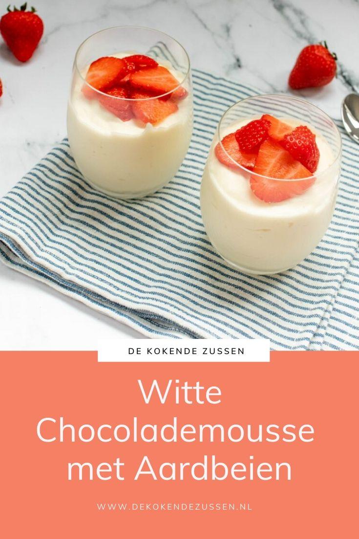 Witte Chocolademousse met Aardbeien