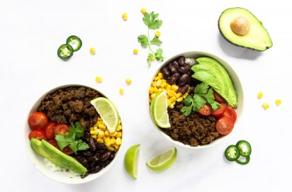 Burrito Bowl met Pulled Oats