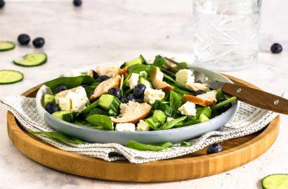 Spinazie Salade met Gerookte Kip