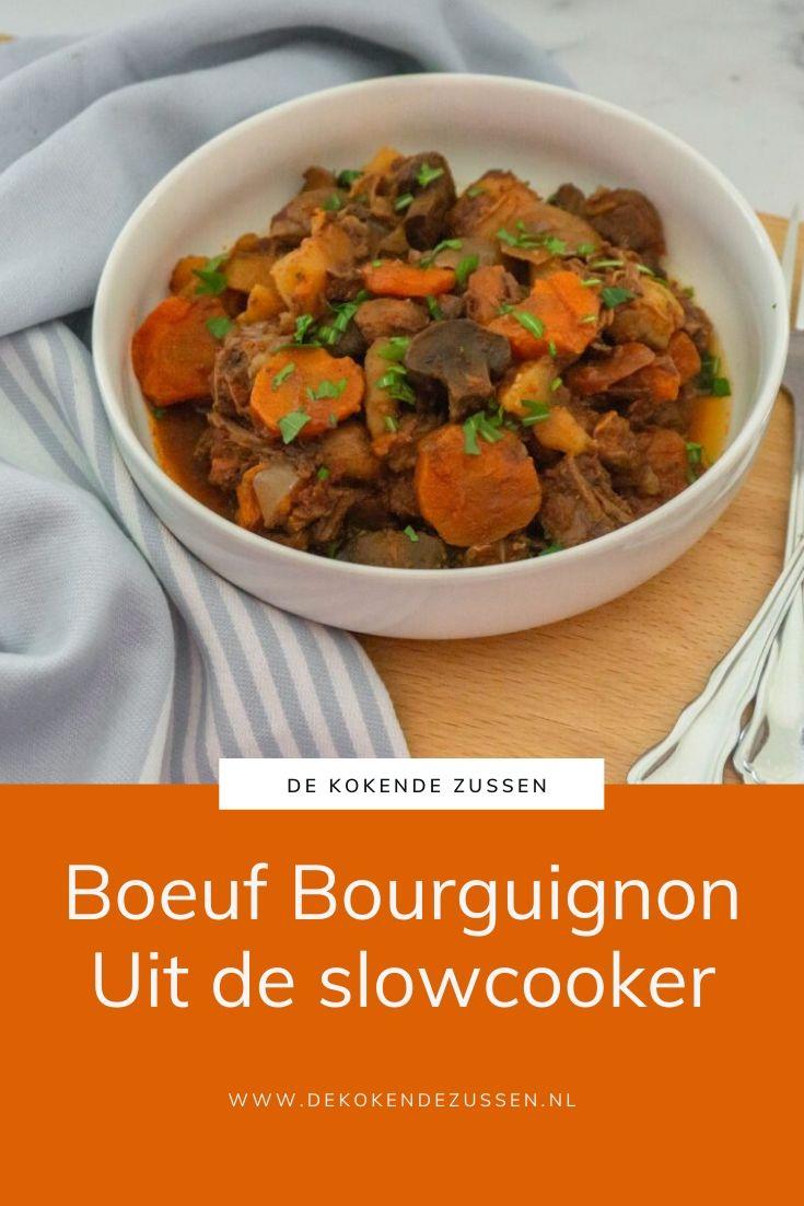 Boeuf Bourguignon uit de Slowcooker