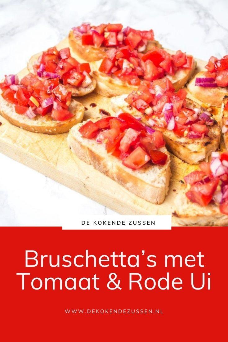 Bruschetta met Tomaat en Rode ui