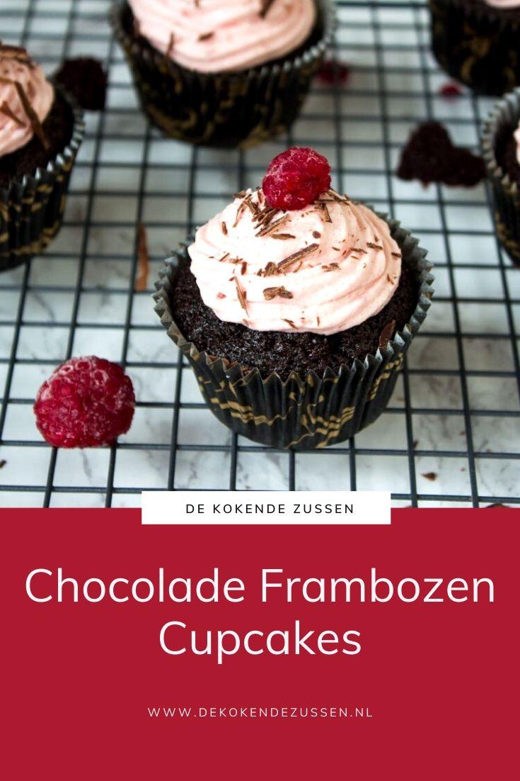 Chocolade Cupcakes met Frambozen