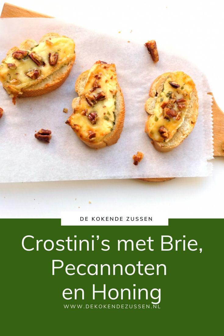 Crostini met Brie, Honing en Pecannoot