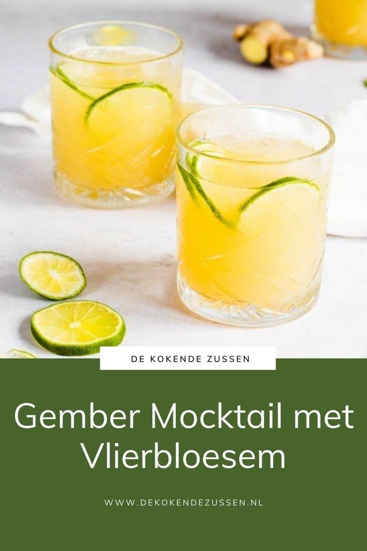 Gember Vlierbloesem Mocktail