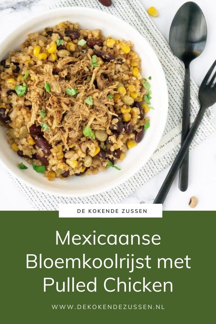 Mexicaanse Bloemkoolrijst met Pulled Chicken