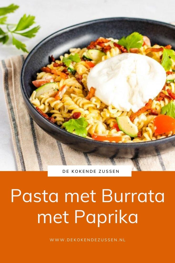 Pasta met Burrata en Paprika